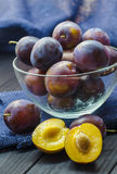 Plums in a bowl Stock Photo