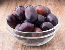 Plums in a bowl Royalty Free Stock Photo
