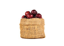 Plums close up isolated on white background Royalty Free Stock Photography