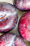 Plums close up macro Stock Photo