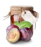 Plums and confiture Royalty Free Stock Photos