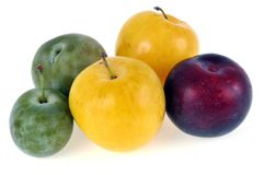 Plums of different colors stock image