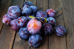 Plums. Fresh ripe purple healthy plums stock images