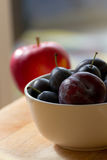 Plums In A Bowl Royalty Free Stock Image