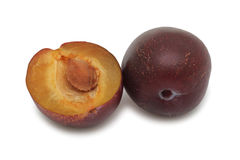 Plums, isolated Stock Photos
