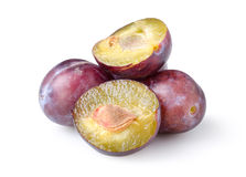 Plums isolated Royalty Free Stock Photo