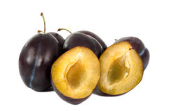 Plums isolated Stock Image