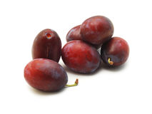 Plums isolated on white Royalty Free Stock Image