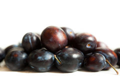 Plums isolated on white Royalty Free Stock Photography