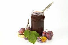 Plums and jam royalty free stock image