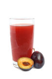 Plums juice Stock Image