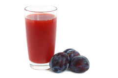 Plums juice Royalty Free Stock Photos