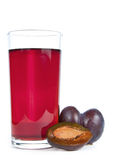 Plums juice Royalty Free Stock Images