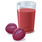 Plums juice. Illustration of the plums juice Stock Images