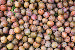 Plums at the market in Sapa, Vietnam Royalty Free Stock Photo