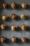 Plums with nuts Royalty Free Stock Photo