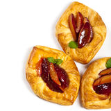 Plums pastries Stock Photo