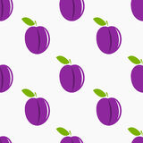 Plums pattern Royalty Free Stock Photo