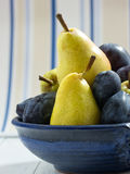 Plums and pears Royalty Free Stock Image