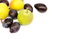 Plums and pears Royalty Free Stock Photography