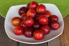 Plums on a plate Royalty Free Stock Photos