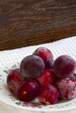 Plums on a plate Royalty Free Stock Photography