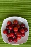 Plums on a plate Stock Photo