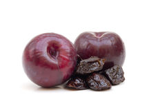 Plums and Prunes Royalty Free Stock Photos