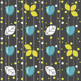 Plums seamless pattern on the grey background. Seamless pattern can be used for wallpaper, pattern fills, web page background,surface textures Royalty Free Stock Photos