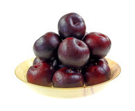 Plums Stacked Bowl Stock Image