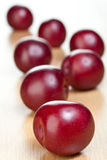 Plums on a table Stock Photography