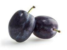 Plums  on white background Royalty Free Stock Photos