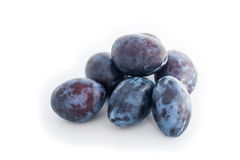 Plums on a White background Royalty Free Stock Photo
