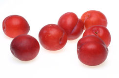 Plums in a white background Royalty Free Stock Photo