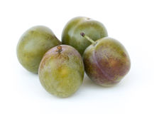 Plums on white background Stock Image