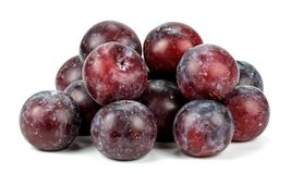 Plums on white background. Plums on a white background stock photos