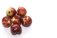 Plums on White background  2. Studio photography. Sourced from the farm Royalty Free Stock Images