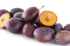 Plums on white Stock Image