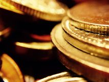 A plunder of gold coins Stock Photo