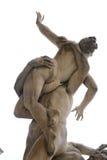 Plunder van het Sabine-vrouwenbeeldhouwwerk, Florence royalty-vrije stock afbeelding