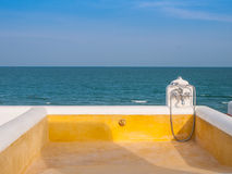 Plunge pool. Hua-Hin, Thailand stock images