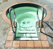 Plunge Pool. 55 degree celsius plunge pool at Halcyon Hot Springs royalty free stock images
