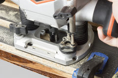Plunge router close Stock Photo