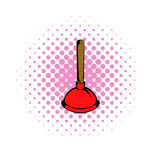 Plunger comics icon. On a white background Royalty Free Stock Images