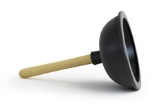 Plunger 3d Royalty Free Stock Photos