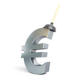 Plunger euro sign Royalty Free Stock Image