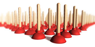 Plunger group Royalty Free Stock Photo