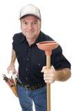 Plunger Man Stock Image