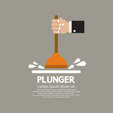 Plunger In Man's Hand Stock Photos