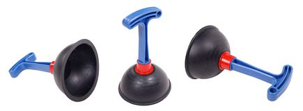 Plunger set on an isolated Royalty Free Stock Image